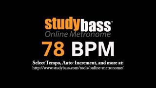 78 BPM Online Metronome (3 min) | StudyBass