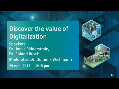 Discover the value of Digitalization | 24 April 2017 - 12:15 pm