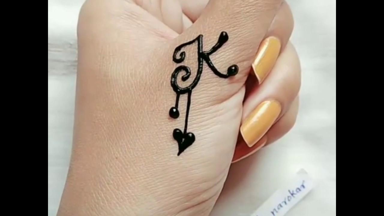 Most stylish J+K Letter Alphabet \u0026 Love Henna Tattoo Mehndi Design\\ EID  MEHENDI DESIGN\\মেহেদী ডিজাইন