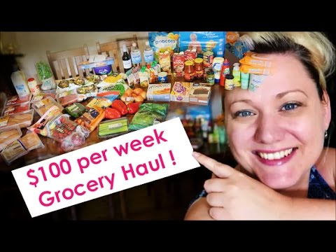 GROCERY HAUL FOR A FAMILY OF 4 $100 Per WEEK - AUSTRALIA