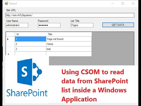 SharePoint: Reading List data inside a windows application using CSOM