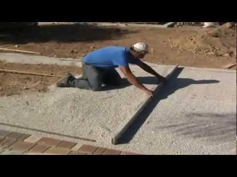 Posa mattoni autobloccanti youtube - Posa pavimento esterno su cemento ...