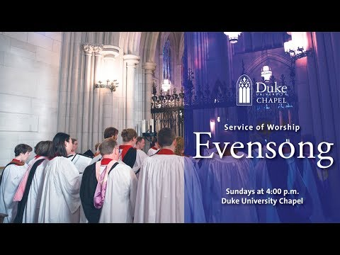 Choral Evensong Worship Service - 10/28/18