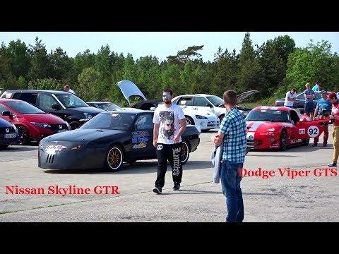 Dodge Viper GTS-362km/h.Nissan Skyline GTR-350 km/h.Estonia 10/06/2017