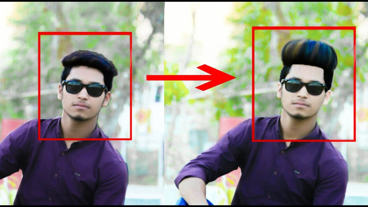 How To Change Hair Style In Picsart Best Picsart Creation Youtube