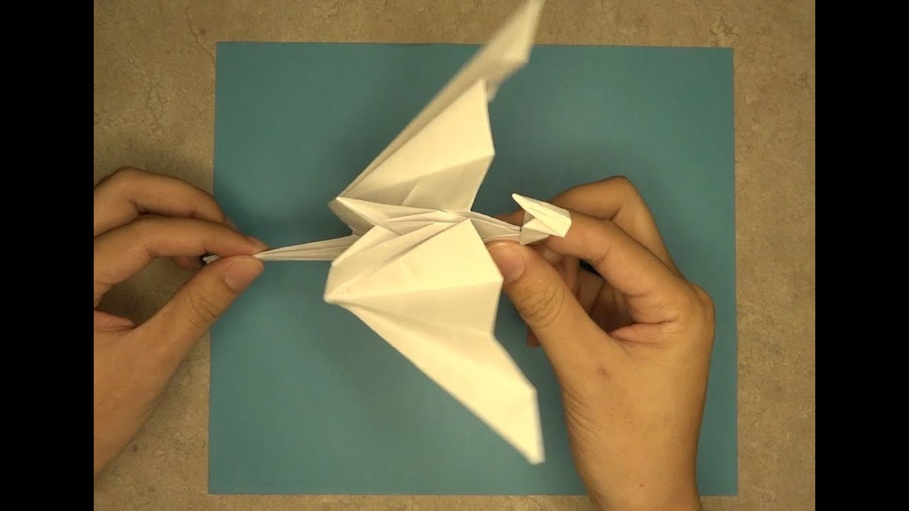 How To Make Flappy Dragon MrOrigami Lesson 2