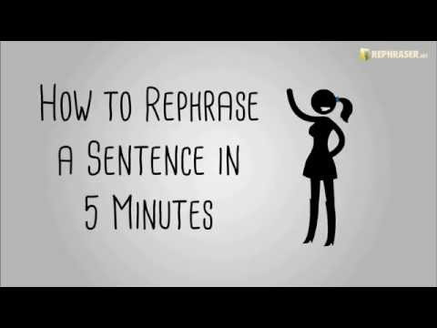 rephrase your sentence