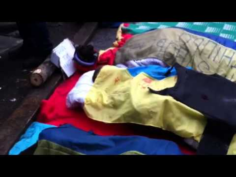 Protesters mourn three of their dead in Kyiv, Ukraine
