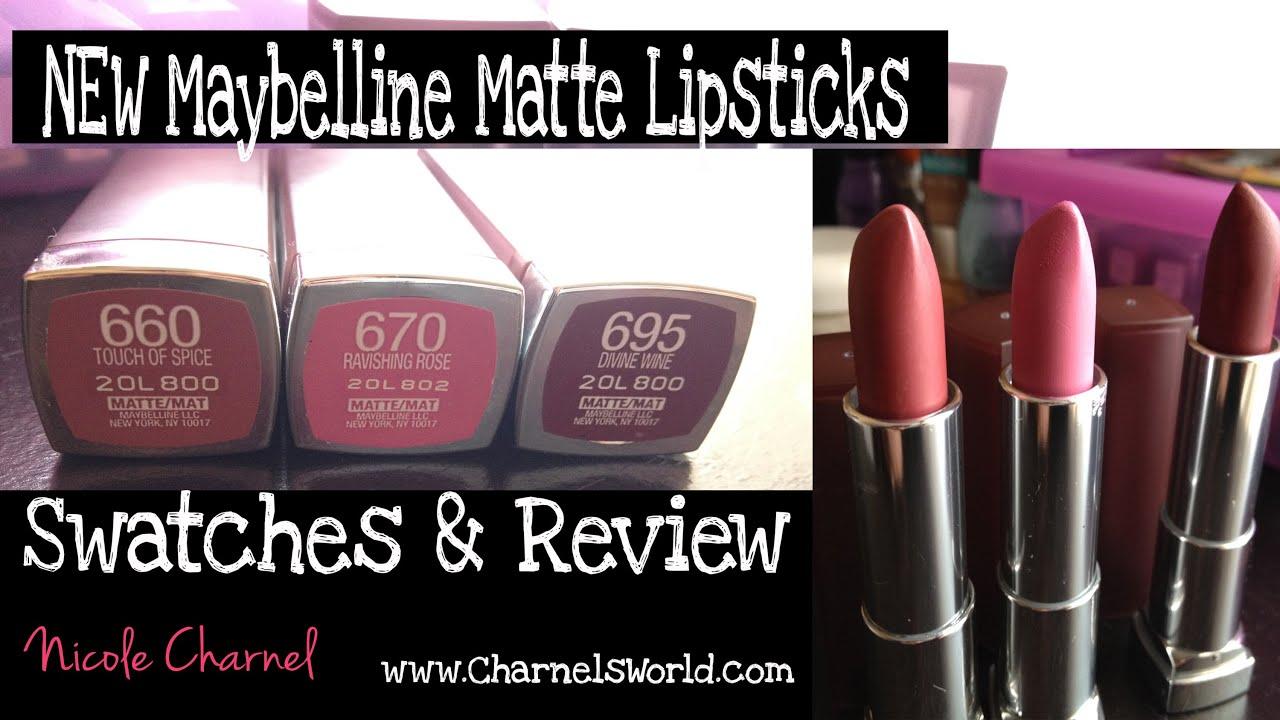 New Maybelline Matte Lipsticks⎜on Brown Or Dark Skin Youtube