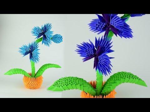 Как сделать цветок орхидею из бумаги в технике модульное оригами. Пошаговая сборка, мастер класс