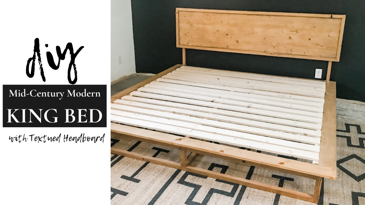 Diy Mid Century Modern King Bed The Awesome Orange