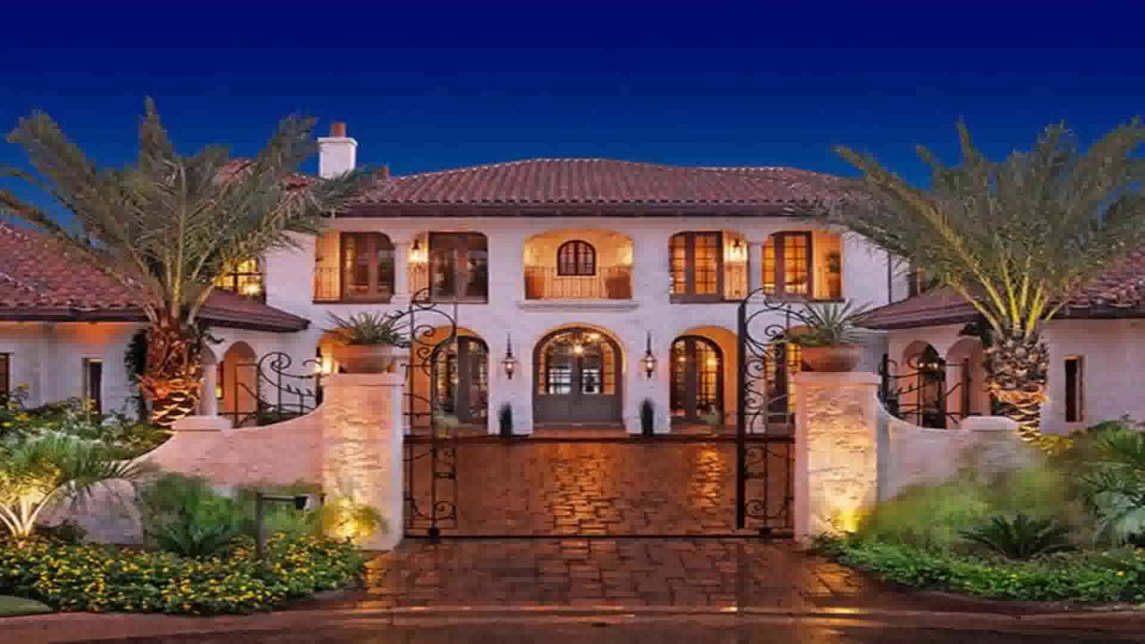 Spanish style hacienda house plans youtube for Spanish hacienda style