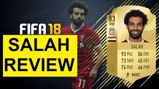 FIFA 18 SALAH PLAYER REVIEW! 83 MOHAMED SALAH PLAYER REVIEW | FIFA 18 ULTIMATE TEAM!