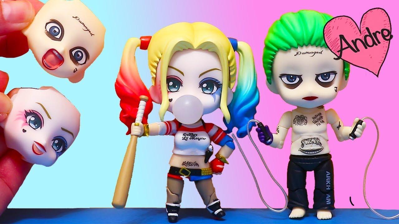 Joker Le Hace Una Broma A Harley Quinn Jugando Muñecas Y Juguetes Con Andre