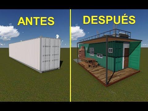 Como transformar un contenedor en vivienda youtube - Contenedores maritimos para vivienda ...
