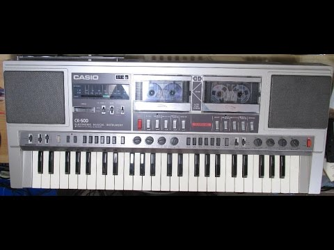 Casio CK-500 Electronic Musical Instrument Keyboard Stereo Double cassette Recorder Review