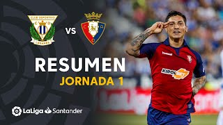 Resumen de CD Leganés vs CA Osasuna (0-1)