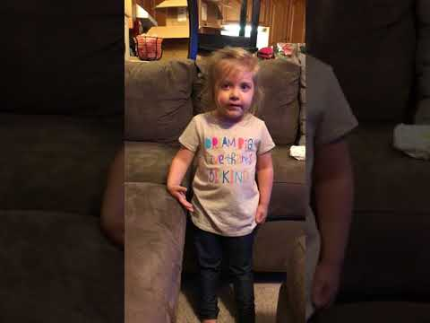3 year Old Girl Sings the 50 States in Alphabetical Order