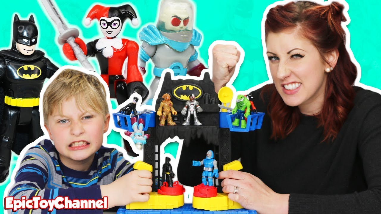 Black Cat Stuffed Animal, Batmans Battle Batcave With Imaginext Harley Quinn Joker Batman And Epic Toy Channel Cassi Youtube
