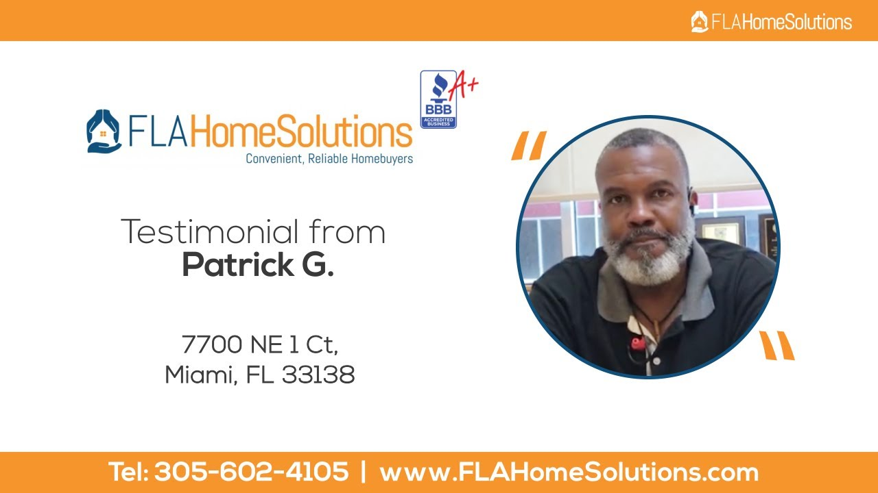 Visit www.FLAHomeSolutions.com Call 305-602-4105 Patrick's Testimonial for Creative RE-Solutions