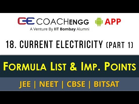 Current Electricity (Part 1) - Formula List, Imp. Points for Revision - CBSE JEE NEET - Rohit Dahiya