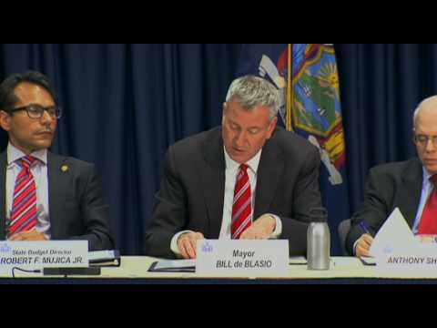 Mayor de Blasio Delivers Remarks at Annual New York State Financial Control Board Meeting