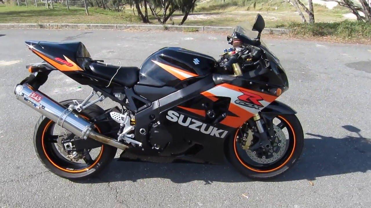 2004 Suzuki GSXR 600 K4 Startup Yoshimura RS3 exhaust