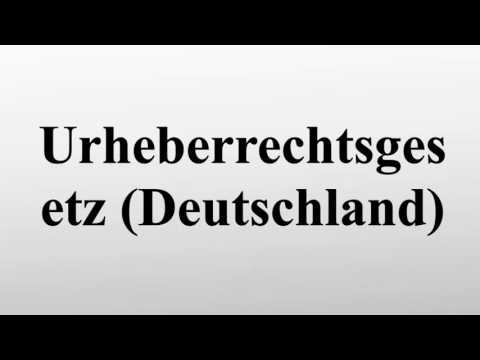 Urheberrechtsgesetz (Deutschland)