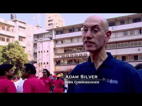 Vivek Ranadive and Adam Silver Visit India