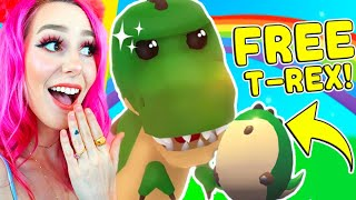 How To Get A FREE T-REX In Adopt Me! Roblox Adopt Me Fossil Egg Update