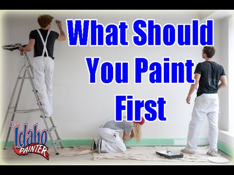 Interior Painting Tips. What To Paint First When Painting A Room. DIY Walls  Ceilings Or Trim?   YouTube