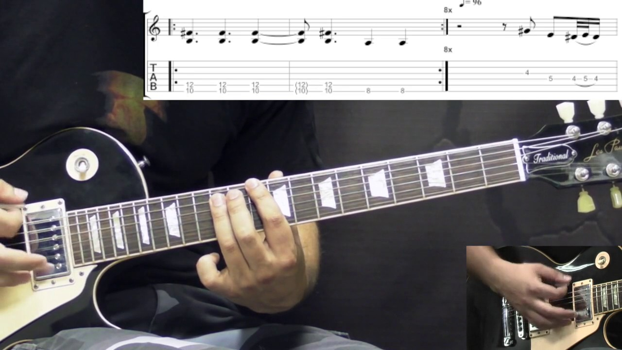 Black Sabbath - Under The Sun - Metal (Rhythm) Guitar Lesson (w/Tabs)