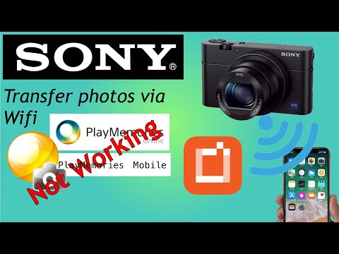 WiFi Transfer Sony Camera To IPhone, Ipad Or Android