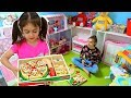 Pretend Play Pizza Delivery & Cutting Fruit and Vegetables Playset