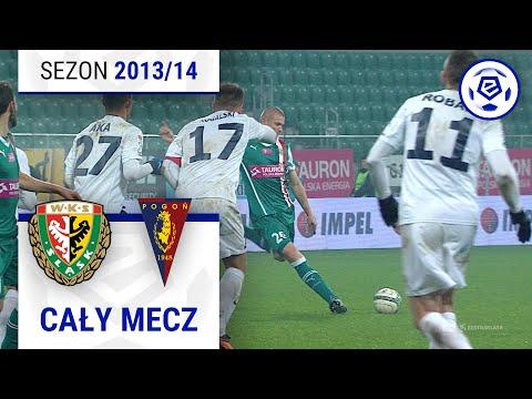 Śląsk Wrocław - Pogoń Szczecin [1. połowa] sezon 2013/14 kolejka 19