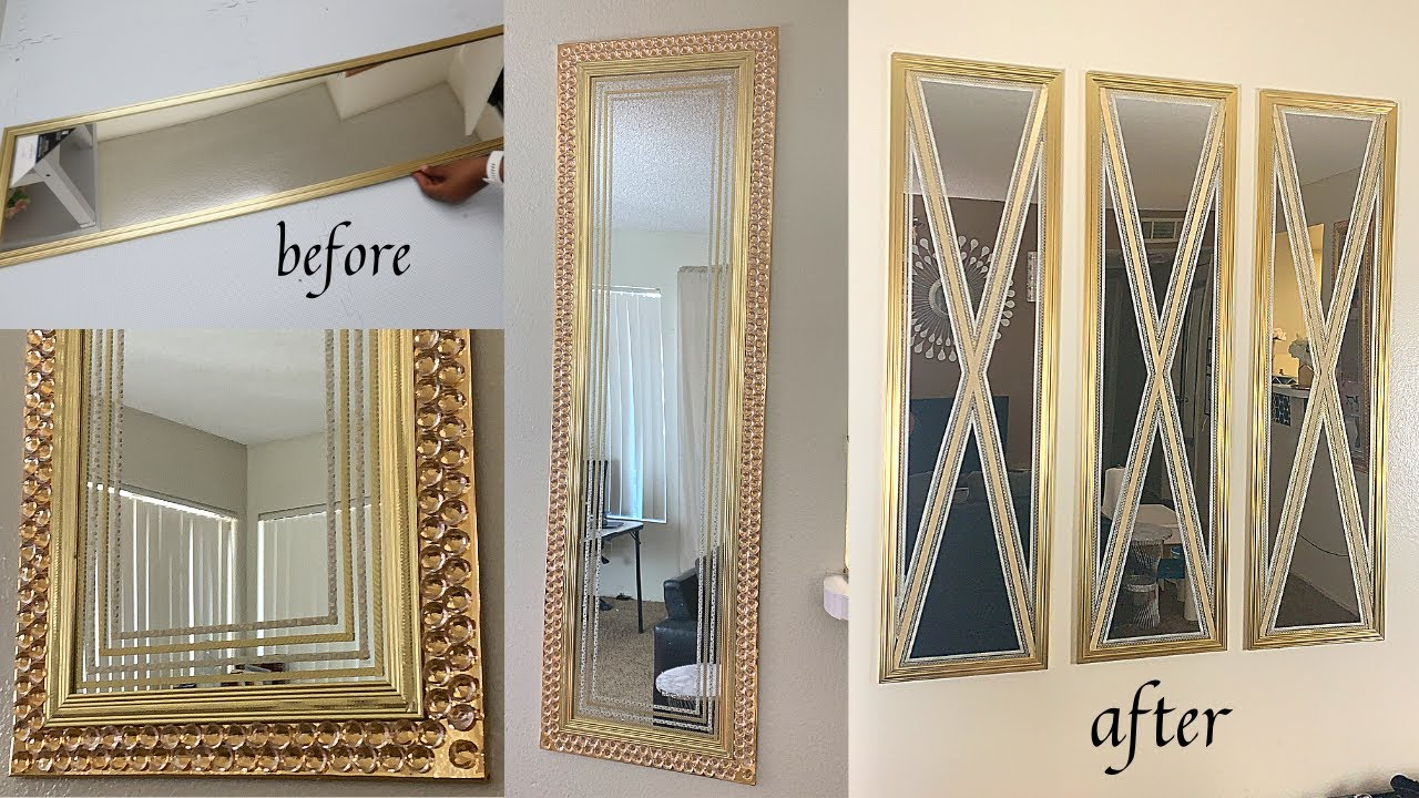 2 WAYS TO MODIFY YOUR MIRROR USING CRAFT TAPE- Simple DIY for old mirrors-Home decor