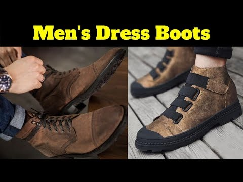 Men's dress boots collection || Men boots fashion || Mens dress boots outfit ideas