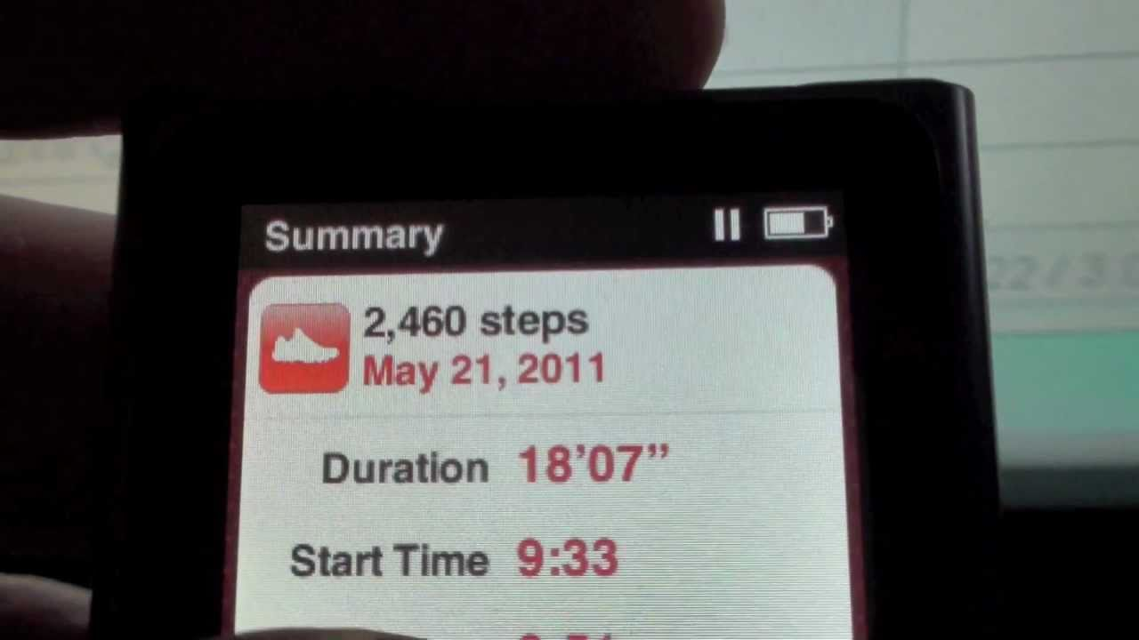 vestir Mismo gastar  Pedometer Apple iPod Nano More detail for getting fit and for runners -  YouTube