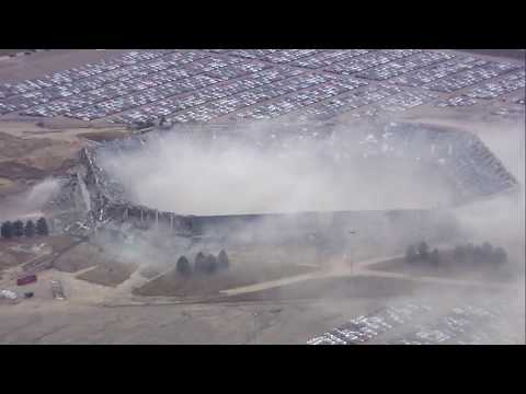 FULL - 2nd Implosion of the Pontiac Silverdome brings down upper ring