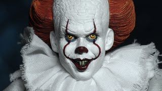 Neca Toys IT movie 2017 Pennywise the clown 8 inch retro style figure
