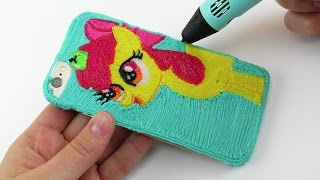 My Little Pony DIY Apple Bloom iPhone Case draw with 3D PEN! MLP Coloring Video