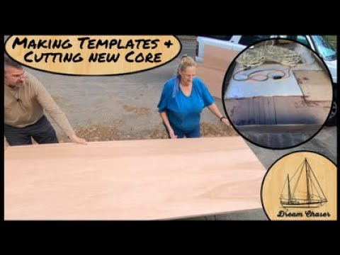-Making Templates, cutting and installing Marine Grade plywo