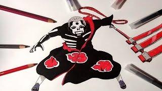 Speed Drawing Hidan ( Naruto Shippuden )