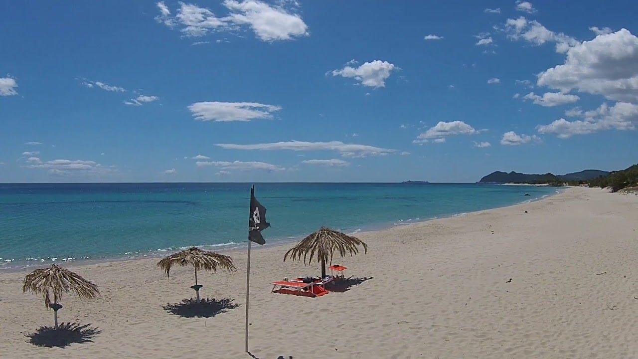 Luftaufnahmen Sardinien Strand Von Villa Rei Sudlich Von Costa Rei