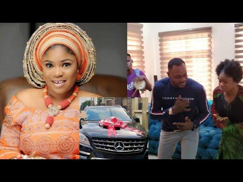 Download Actor Odunlade Adekola Unbelievable Surprise Birthday Gift To Actress Eniola Ajao New Age...