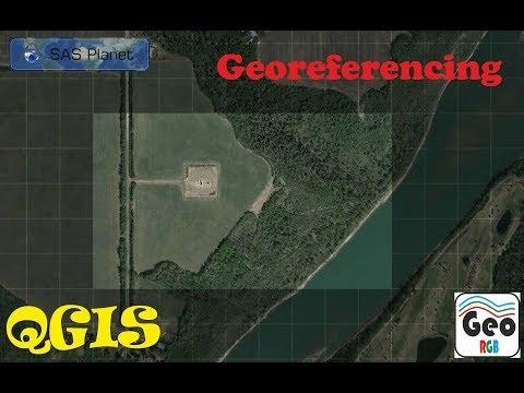 Lesson 5. SasPlanet.  Georeferencing image.  Flood map.  Alberta.