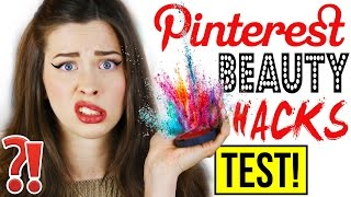GENIALE PINTEREST BEAUTY HACKS im LIVE TEST | FAKE EYELINER AUFKLEBEN?! | Mit KINDOFROSY | DIY HACKS