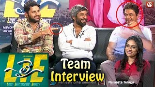 LIE Movie Team Interview | Nithiin | Arjun | Megha Akash | Hanu Raghavapudi | Namaste Telugu