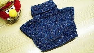 Манишка спицами | простой способ вязания