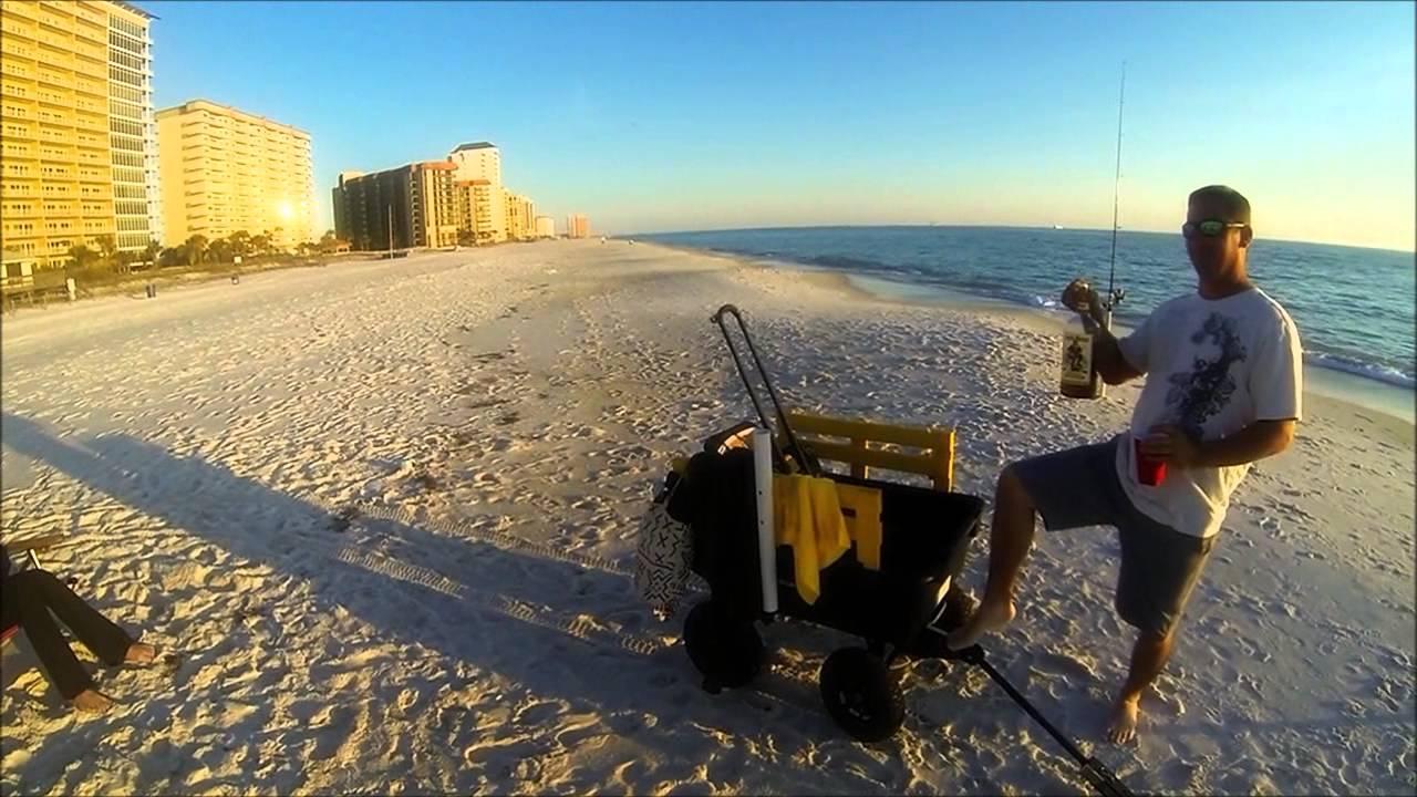 Panama city beach pompano fishing 2 10 13 youtube for Deep sea fishing panama city beach prices